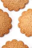 Biscuits in the shape of a flower on the white background Royalty Free Stock Image
