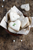 Biscuits in the shape of a heart Royalty Free Stock Photos