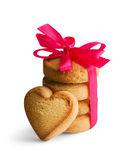 Biscuits in the shape of a heart Stock Image