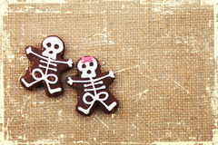 Biscuits skeletons Royalty Free Stock Photography