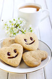 Biscuits with smile Royalty Free Stock Image