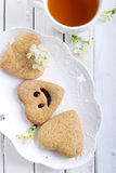 Biscuits with smile Royalty Free Stock Images