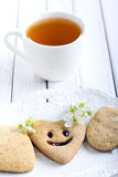 Biscuits with smile Stock Image