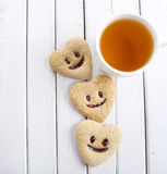 Biscuits with smile Royalty Free Stock Photos