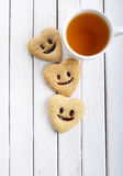 Biscuits with smile Royalty Free Stock Photography