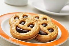 Biscuits souriants image libre de droits