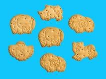 Biscuits sous forme d'animaux drôles, bon amusement pour le children_ photographie stock libre de droits