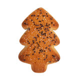 Biscuits sous forme d'arbre de Noël Photographie stock libre de droits