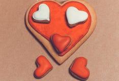 Biscuits sous forme de coeur Images stock