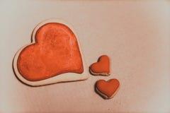 Biscuits sous forme de coeur Images libres de droits