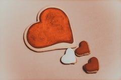 Biscuits sous forme de coeur Photos libres de droits