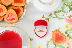 Biscuits sous forme de coeurs Image stock