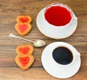 Biscuits sous forme de coeurs Photo libre de droits