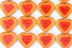 Biscuits sous forme de coeurs Image libre de droits