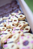 Biscuits sous forme de papillon Photographie stock libre de droits