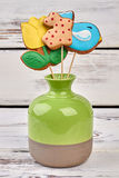 Biscuits on sticks in vase. Stock Photos