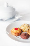 Biscuits and a sugar bowl breakfast Royalty Free Stock Photos