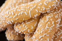 Biscuits with sugar grains Stock Photos