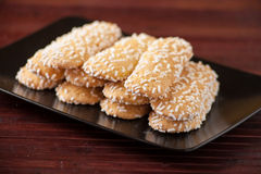 Biscuits with sugar grains Stock Photography