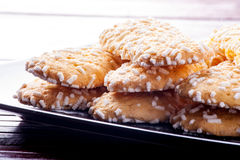 Biscuits with sugar grains Stock Photo
