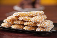 Biscuits with sugar grains Stock Image