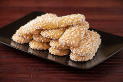 Biscuits with sugar grains Royalty Free Stock Photography