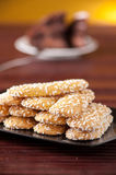 Biscuits with sugar grains Royalty Free Stock Photos