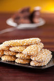 Biscuits with sugar grains Stock Images