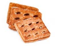 Biscuits sur le blanc Photo stock
