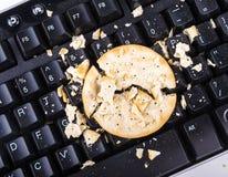 Biscuits sur le clavier Image libre de droits