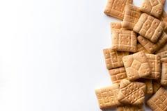 Biscuits sur le fond blanc Photo libre de droits