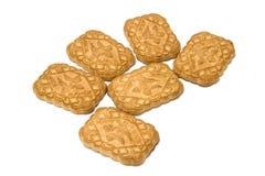 Biscuits sur le fond d'isolement Photographie stock libre de droits