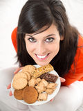 Biscuits sweet temptation Royalty Free Stock Images