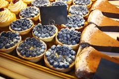 Biscuits and sweets on sale in pastry shop Royalty Free Stock Images