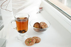 Biscuits and tea Stock Photography