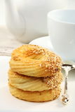 Biscuits for tea. Royalty Free Stock Photos