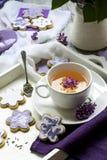 Biscuits & tea Stock Photos