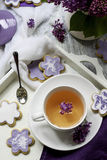 Biscuits & tea Royalty Free Stock Photo