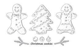 Biscuits tirés de Noël Photos libres de droits