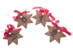 Biscuits to celebrate the new year. Ginger biscuits for new year stock photos