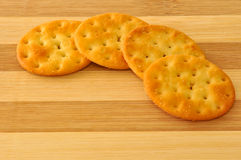 Biscuits on the top of wooden board Stock Photos