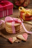 Biscuits for Valentine`s Day stock photography