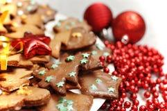 Biscuits vitrés de pain d'épice images stock