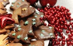 Biscuits vitrés de pain d'épice Image libre de droits