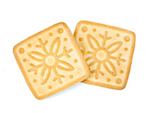 Biscuits on white Stock Photo
