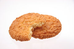 Biscuits on white Royalty Free Stock Photos