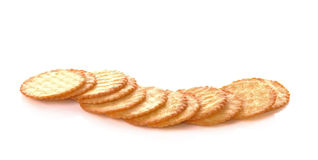 Biscuits on white background. Royalty Free Stock Images