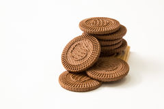Biscuits on white background Stock Photography