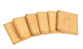 Biscuits on white background royalty free stock photos
