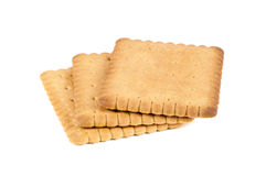 Biscuits on white background Royalty Free Stock Photo